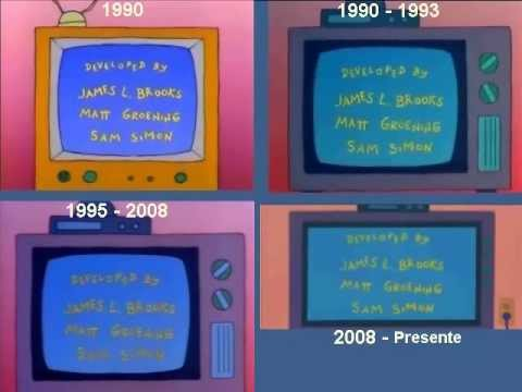The Simpsons intro since the 90', The Simpsons intro since the 90'