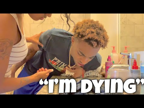 FUNNY THROWING UP BLOOD PRANK ON GIRLFRIEND! *crazy reaction* she called the cops..
