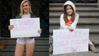 HOT GIRL vs HOMELESS CHILD! (Social Experiment)