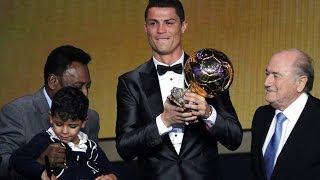 Cristiano Ronaldo Balon De Oro 2014 Winner CR7 Golden