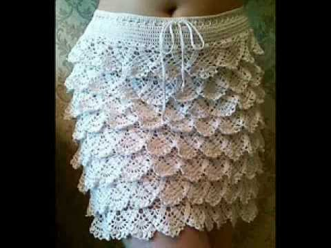 Free Crochet Ruffle Dress Patterns : how to crochet ruffle skirt free pattern - YouTube