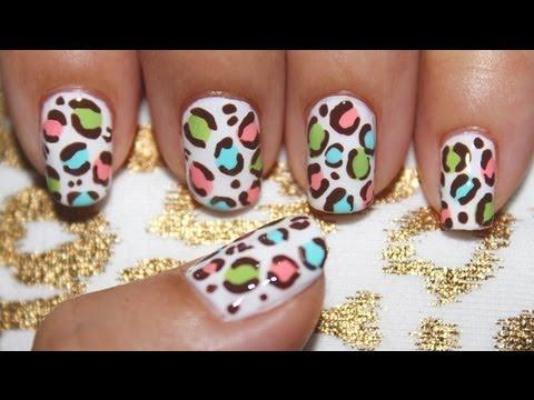 Pastel Leopard Nail Art Nails Video