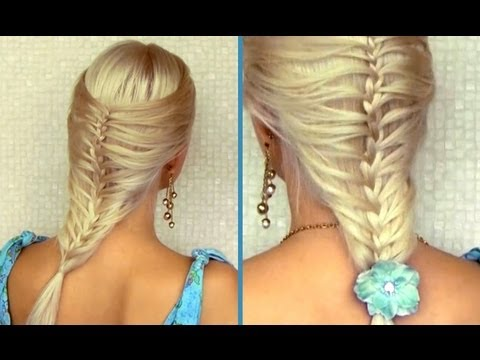 Romantic summer hairstyle for medium long hair French cage / mermaid braid tutorial, In this summer 2012 step by step hair tutorial I'll show you how to do a cage braid also known as a mermaid braid - an easy modification of a regular french ...