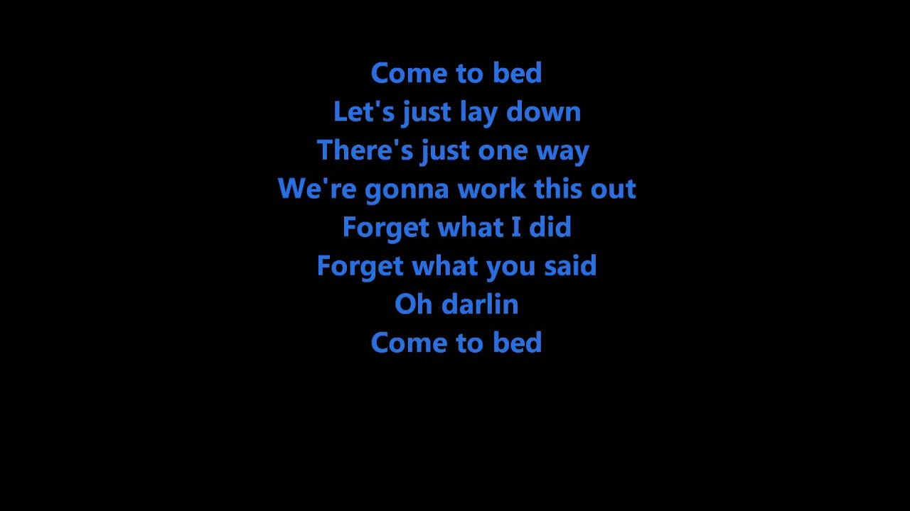 come to bed by gretchen wilson youtube