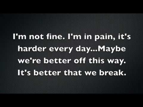 Maroon 5 – Better That We Break Lyrics | Genius Lyrics