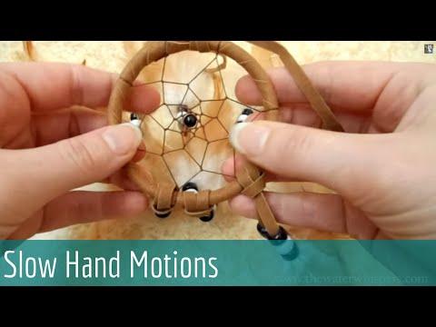 ASMR Soft spoken/Whispering - Fluffy Dream Catcher  (Slow Hand Motions)