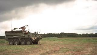 Army Stryker vehicles with 30 mm cannon & Javelin upgrades