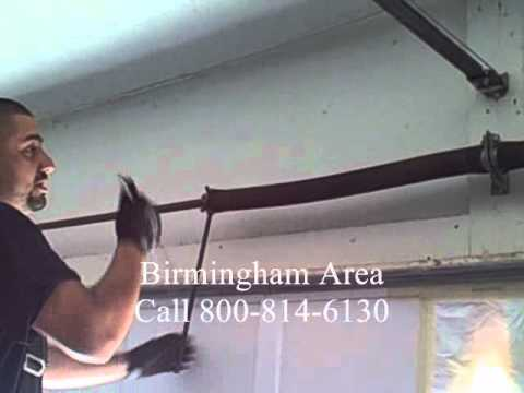 How To Remove Tension Garage Door Spring Replacement Youtube