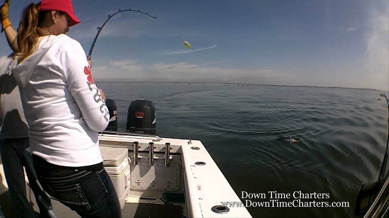 Chesapeake bay striper fishing 4 17 2013 youtube for Striper fishing chesapeake bay