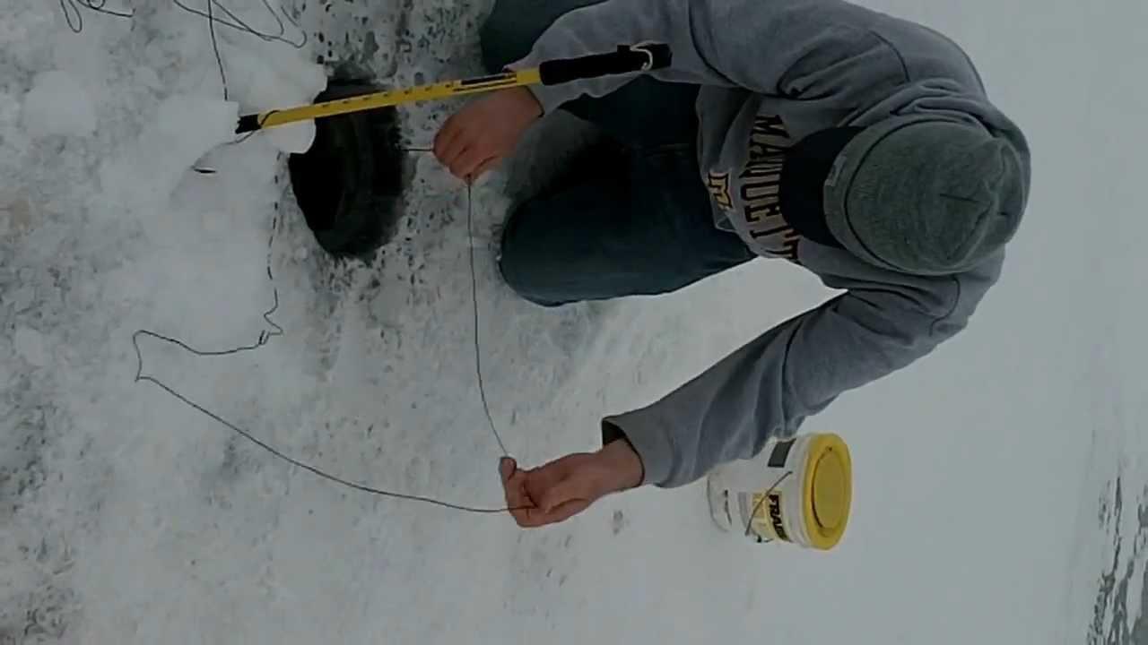 Ice fishing devils lake north dakota youtube for Devils lake nd ice fishing
