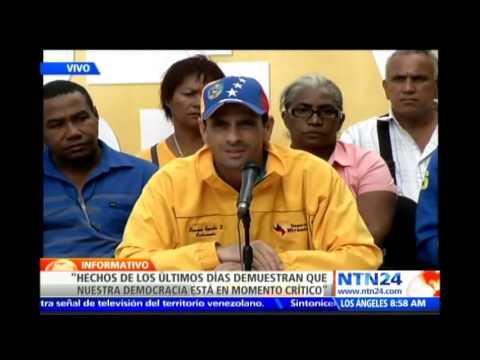 Henrique Capriles habla en rueda de prensa y pide a Maduro