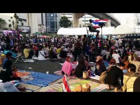 Tại 1 điểm biểu tình ở Thái Lan