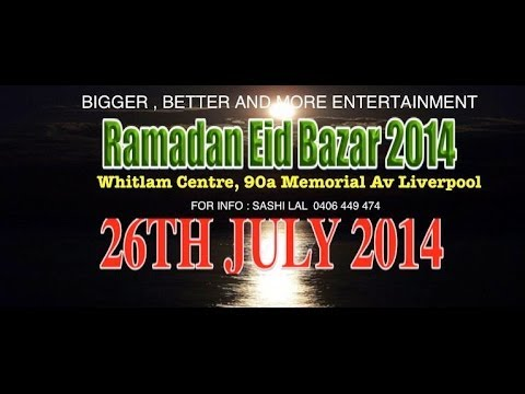 RAMADAN EID BAZAAR  ONCE AGAIN THIS YEAR 2014