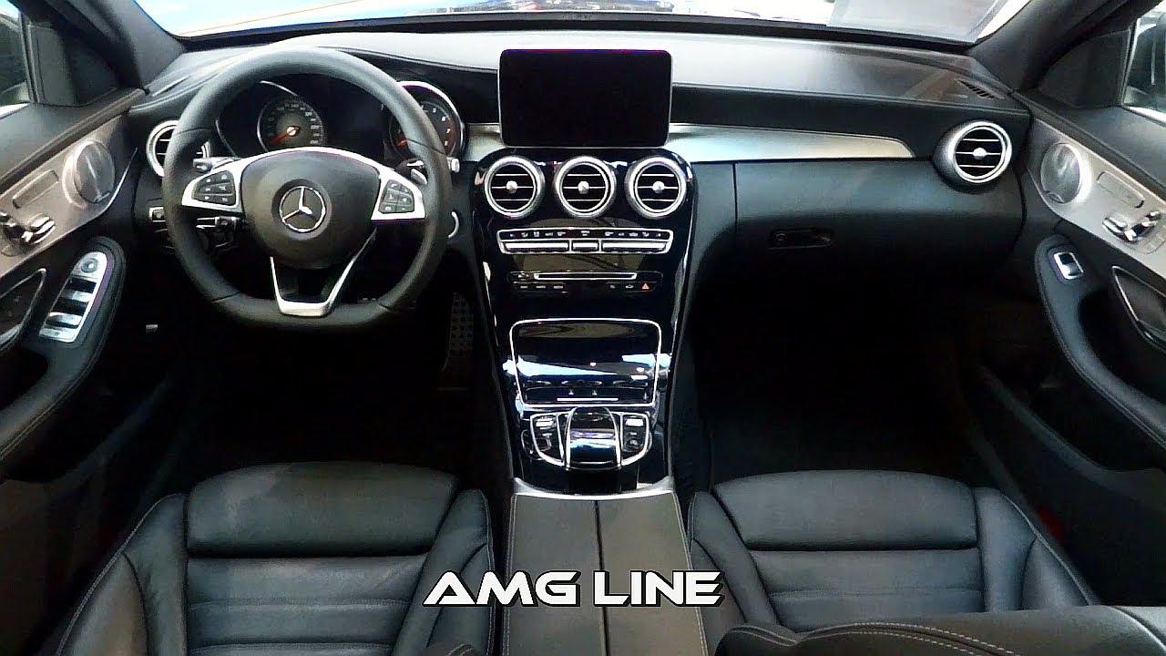 2014 mercedes c class interior amg line vs exclusive line for Mercedes clase a amg interior