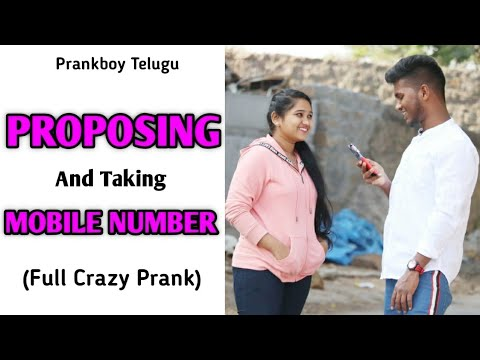 Next Level Proposing And Taking Mobile Number || Telugu Pranks || Prankboy Telugu || Bigo Live