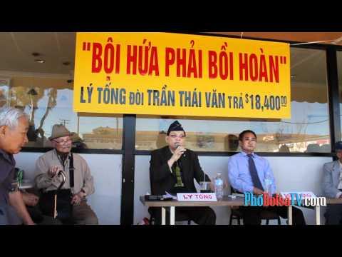 Cựu phi công Lý Tống họp báo tố cáo cựu DB tiểu bang Trần Thái Văn - phần 1