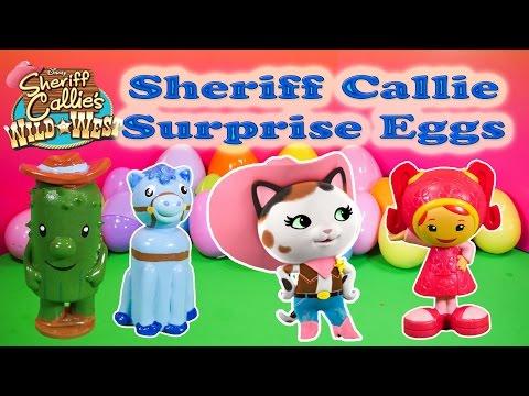 SHERIFF CALLIE Disney Junior Sheriff Callie  Surprise Egg a Disney Sheriff Callie Video