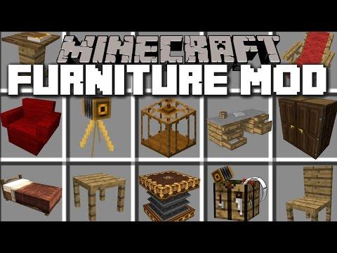 Minecraft HOUSE FURNITURE MOD / MAKE A REALISTIC HOUSE WITH FURNITURE!! Minecraft