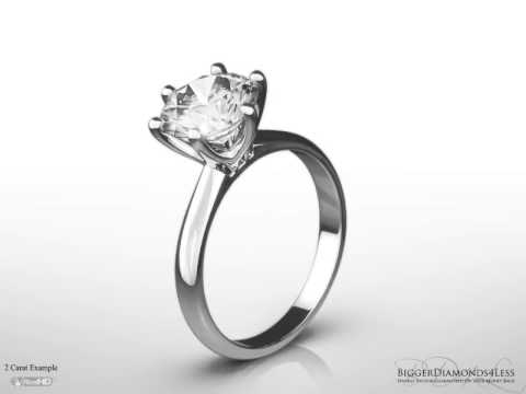 Tiffany Style Solitaire Engagement Ring with Six Claws 'Sienna'