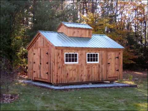 Post and beam shed kits jamaica cottage shop inc youtube for Post and beam shop plans