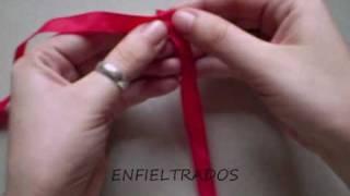 Como hacer una flor con tela (fabric flower)