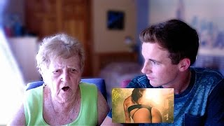 Grandma    Reacts To Anaconda Music Video By Nicki Minaj