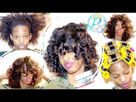 Natural Hair| Silicon Mix Treatment & Roller Set| Low Manipulation for Elognated Curls