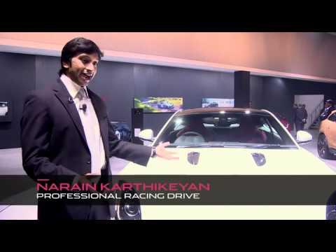 Narain Karthikeyan and Jaguar Land Rover Show Their Latest Vehicles at the Delhi Motor Show 2014
