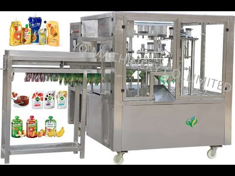 Stand Up Spout Pouch Filling and Capping Packing Machine