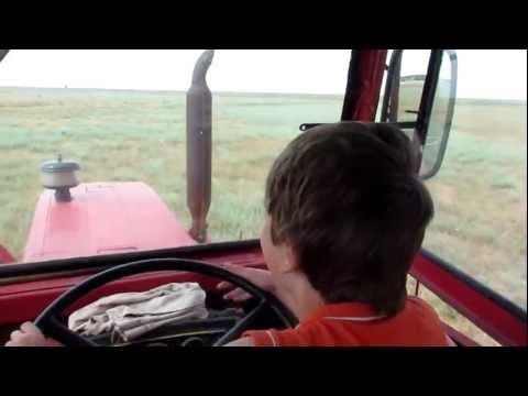 GIURGENI 54 - TRACTOR tractoare Romanesti Brasov driven by 10 year old son Alex (HD)