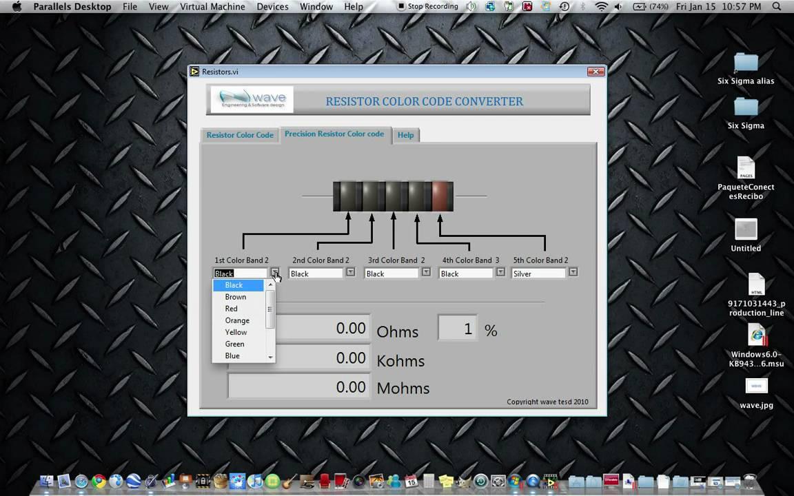 waveeng resistor color code converter software youtube