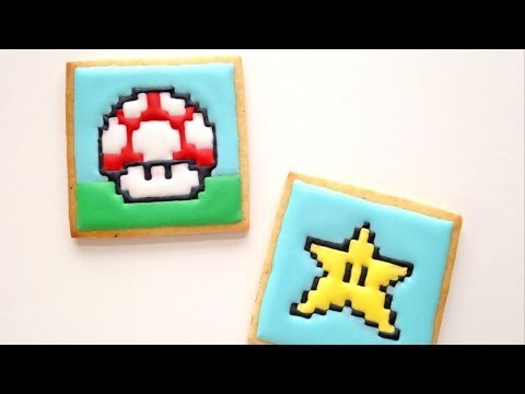 How To Decorate Mushroom and Star Cookies! Nintendo Collab with TheVegetarianBaker