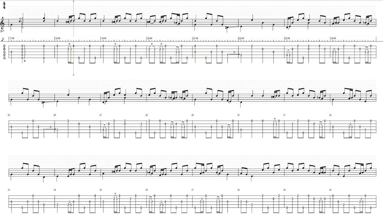 Foggy Mountain Breakdown Banjo Tabs u1d34u1d30 - YouTube