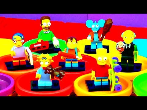 The Simpsons LEGO Minifigures Ultra Review Blind Bag Mystery Packs Marge Bart Simpson Toys FluffyJet