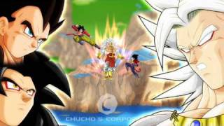 Dragon Ball Z Broly Saiyan 5 Vs Gokuh And Vegeta