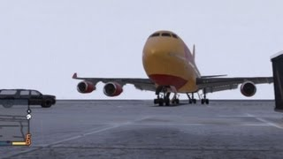 GTA V: How To Steal A Jumbo Plane (Biggest Plane In The