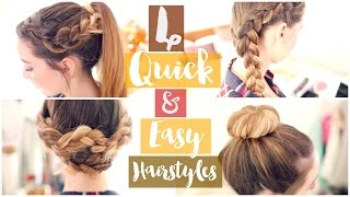 How To: 4 Quick & Easy Hairstyles   Zoella ad