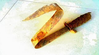 Restoration of lost pirates sword  - Restore of old rusty sword