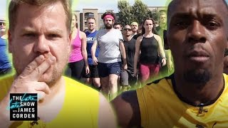 100m Race: Usain Bolt vs James Corden & Owen Wilson