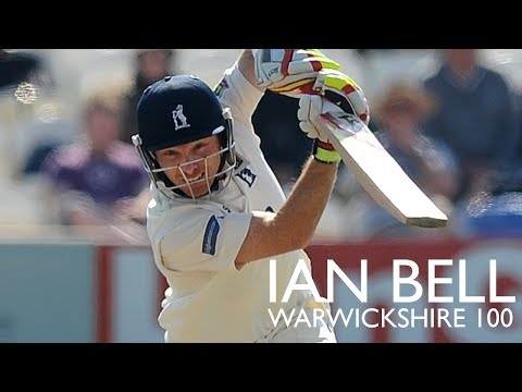 Century: Ian Bell in the runs for Warwickshire
