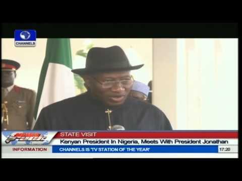 President Kenyatta Visits Nigeria,Meets President Jonathan