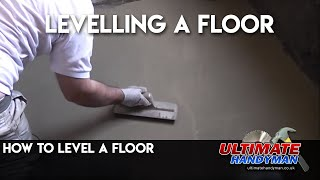 How to use floor levelling compound