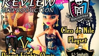 Review Monster High 13 Wishes Playset Cleo De Nile (Desert