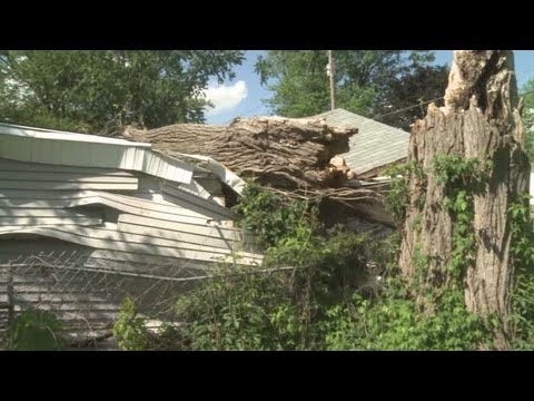 Neighbors fear for children's safety after weeks of waiting for storm damage cleanup