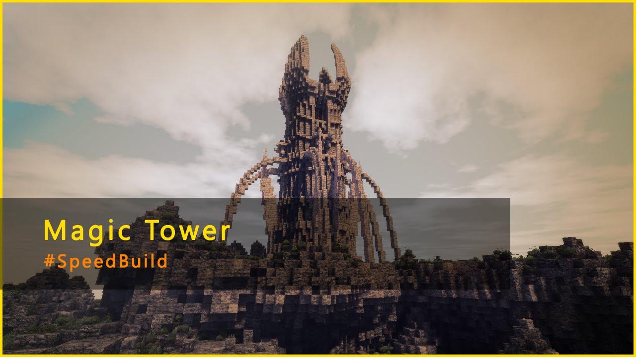Строим магическую башню в майнкрафте