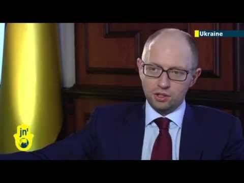 Yatsenyuk defiant: Ukrainian PM hits out at Kremlin for attempt to resurrect the Soviet Union