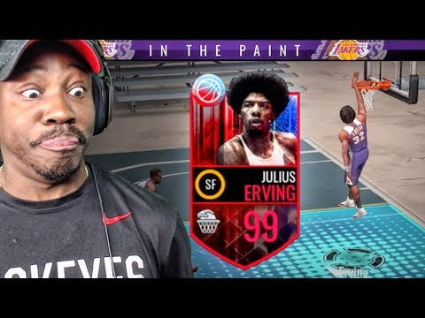 99 OVR JULIUS ERVING DUNKING ON WHOLE TEAM! NBA Live Mobile Gameplay Ep. 155
