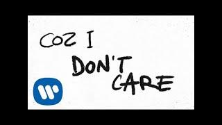 Ed Sheeran & Justin Bieber - I Don't Care [Official Lyric Video]