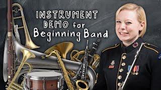 Instrument Demonstration for Beginning Band