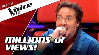 TOP 10   MOST VIEWED Blind Auditions of The Voice Kids